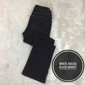 White House Black Market Denim 2R Boot Leg Black